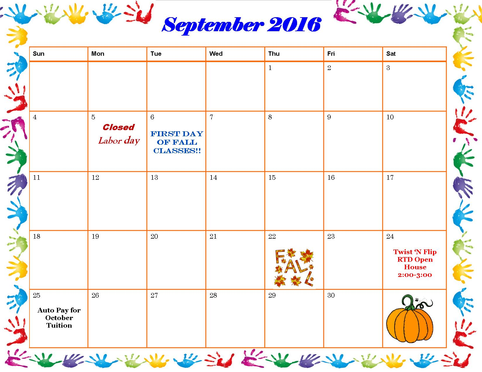 Schenectady Gymnastics Schedule September 2016